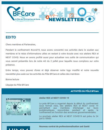 Newsletter Pôle BFCare
